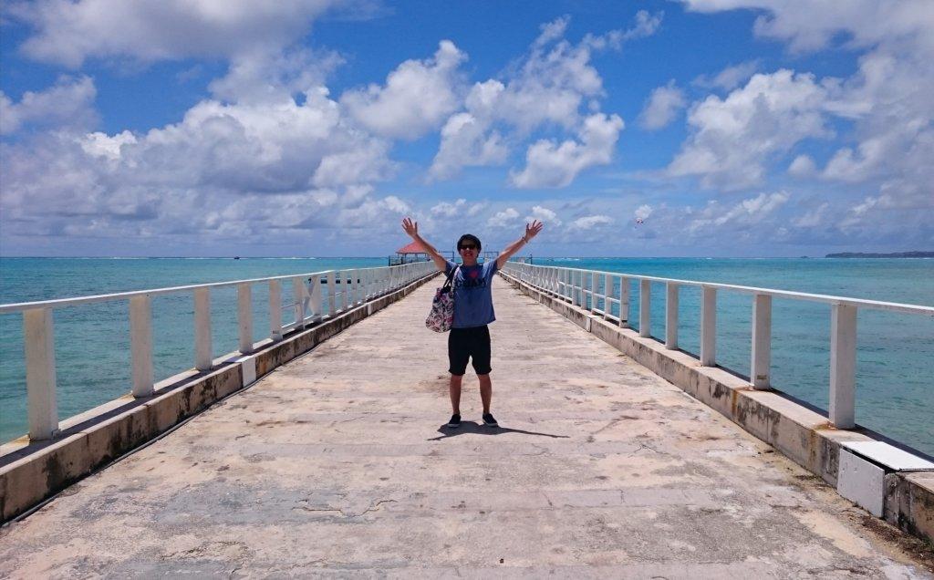 ココス島での記念撮影